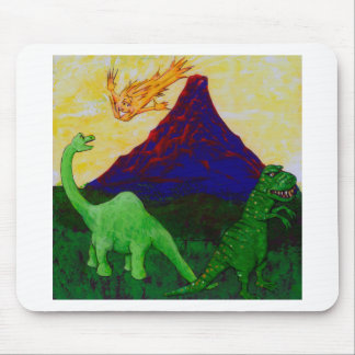 Surprised Dinosaurs Mouse Pad