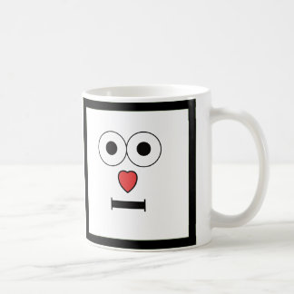 Surprised Face with Heart Nose Coffee Mug
