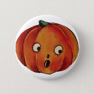 Surprised Halloween Pumpkin 6 Cm Round Badge