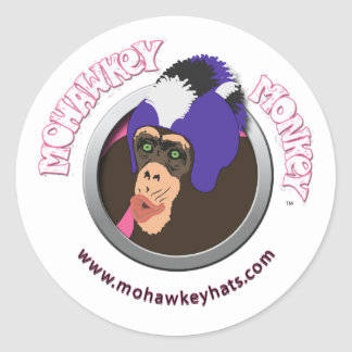 Surprised Mohawkey Monkey sticker
