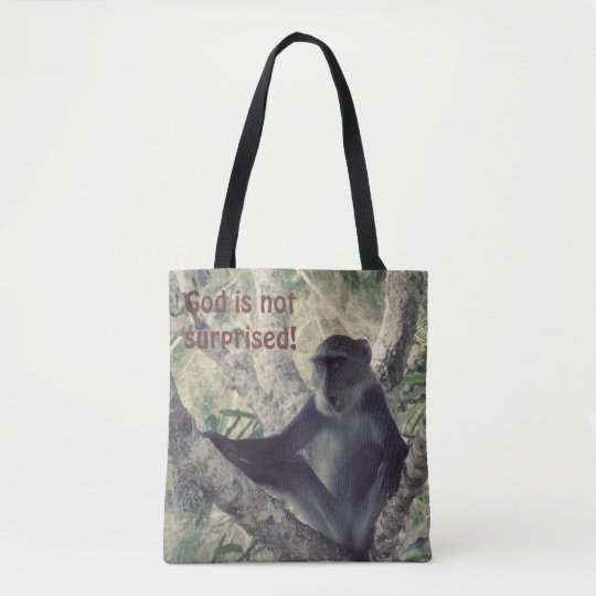 Surprised Monkey Tote Bag