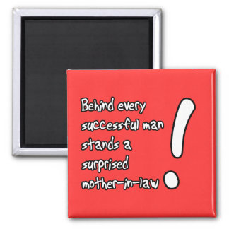 Surprised Mother-In-Law Funny Magnet Humor