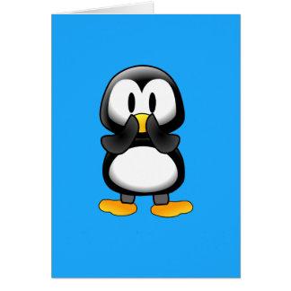 Surprised Penguin Cartoon Card