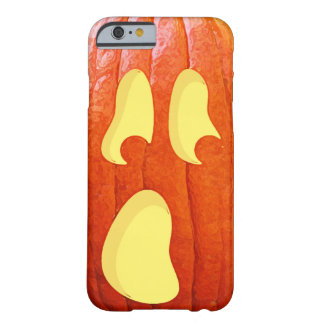 Surprised Pumpkin Jack O Lantern Face Halloween Barely There iPhone 6 Case