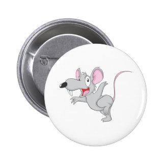 Surprised Rat Mouse Jump 6 Cm Round Badge