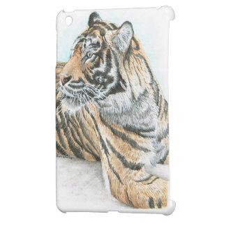 Surprised Tiger Watercolour Case For The iPad Mini