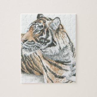Surprised Tiger Watercolour Jigsaw Puzzle
