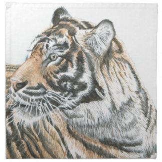 Surprised Tiger Watercolour Napkin