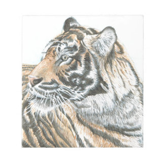 Surprised Tiger Watercolour Notepad