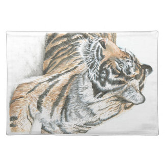 Surprised Tiger Watercolour Placemat