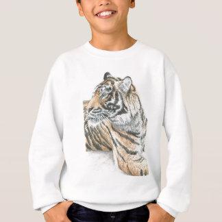 Surprised Tiger Watercolour Sweatshirt