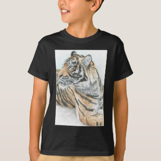Surprised Tiger Watercolour T-Shirt