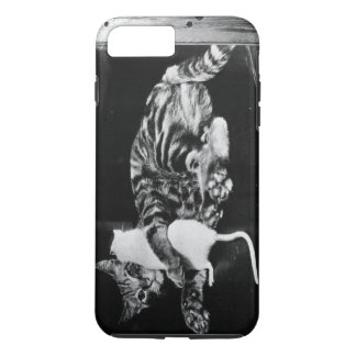 Surprising Friendship - Cat Minnie and Mike Mouse iPhone 7 Plus Case
