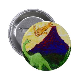 Surpsied Dinosaurs 6 Cm Round Badge