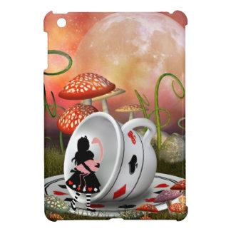 Surreal Alice, Flamingo & Teacup iPad Mini Cover