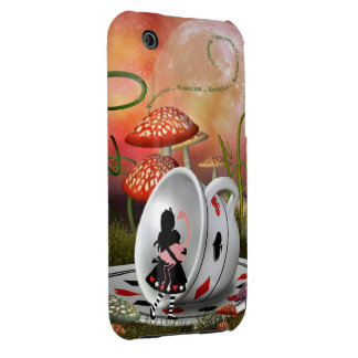 Surreal Alice, Flamingo & Teacup iPhone 3G Case iPhone 3 Case-Mate Cases