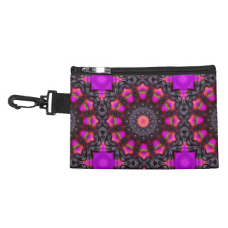 Surreal Blossoms, Flower Mandala Accessories Bags