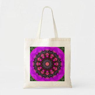 Surreal Blossoms, Flower Mandala Budget Tote Bag