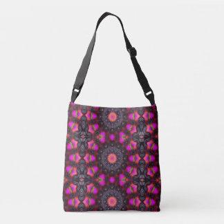 Surreal Blossoms, Flower Mandala Crossbody Bag