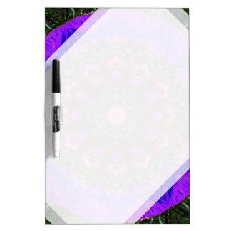 Surreal Blossoms, Flower Mandala Dry Erase White Board
