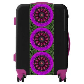 Surreal Blossoms, Flower Mandala Luggage