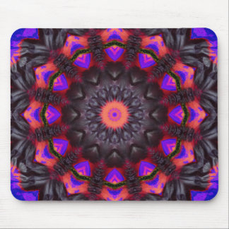 Surreal Blossoms, Flower Mandala Mouse Mat