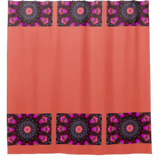 Surreal Blossoms, Flower Mandala Shower Curtain