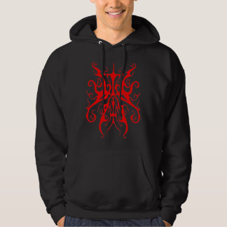 Surreal Butterfly Tribal Tattoo - red Hoodie