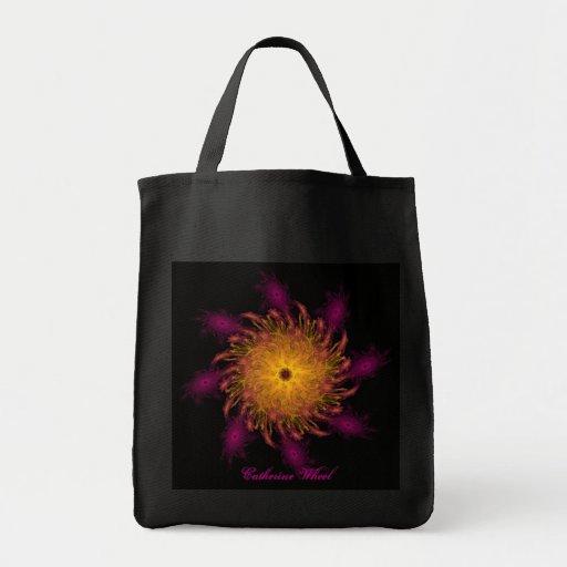 Surreal Catherine Wheel Canvas Bag