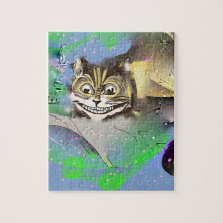 Surreal Cheshire Cat Fading into The Background Jigsaw Puzzle