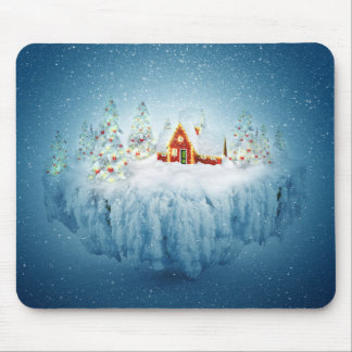 Surreal Christmas Fantasy Mouse Pad