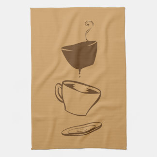 Surreal Coffee Tea Towel
