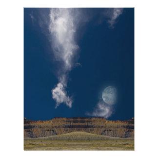 Surreal Desert Landscape Flyer Design