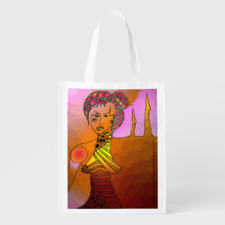 Surreal Figurative Art Reusable Grocery Bag