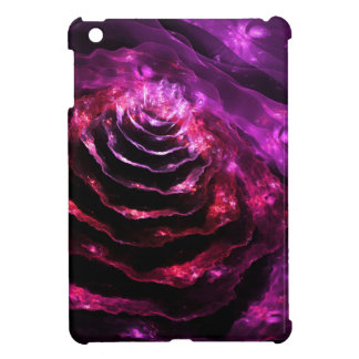 Surreal floral futuristic indigo violet  pattern cover for the iPad mini