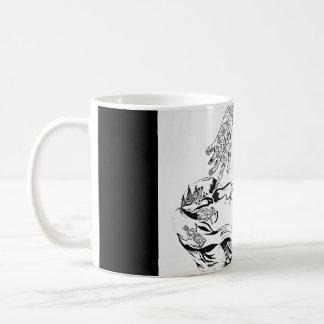 Surreal Florence Welch - Black and White Coffee Mug