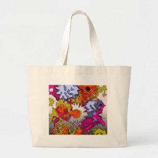 Surreal Flowers,orange Canvas Bag