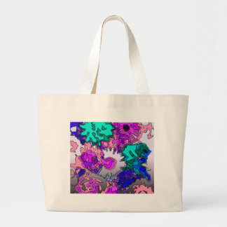 Surreal Flowers,pink Canvas Bags