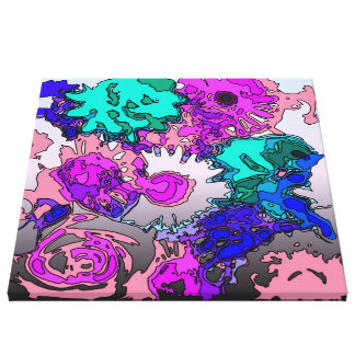 surreal flowers,pink stretched canvas prints