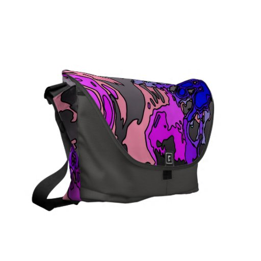 surreal flowers,pink courier bag