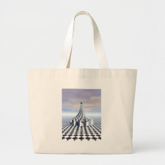 Surreal Fractal Tower Tote Bags