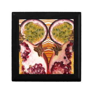 Surreal fruit small square gift box