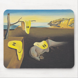 Surreal Happy Faces Mousepad