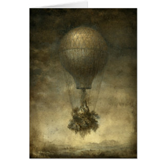 Surreal Hot Air Balloon Greeting Card
