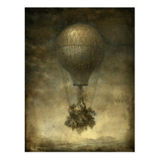 Surreal Hot Air Balloon Postcard