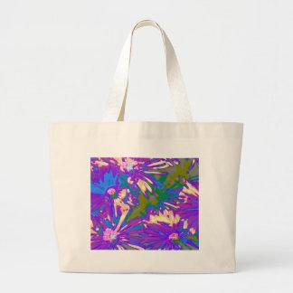 Surreal lavender Flowers Tote Bags