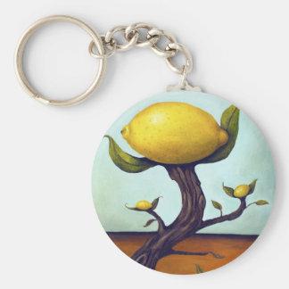 Surreal Lemon Tree Basic Round Button Key Ring