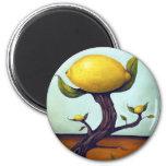 Surreal Lemon Tree Magnets