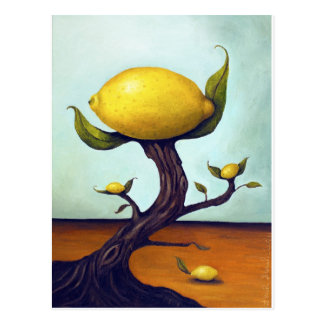 Surreal Lemon Tree Postcard