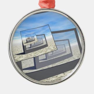Surreal Monitors Infinite Loop Christmas Ornament